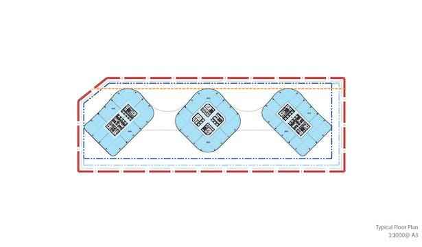 Zhenghong Property Air Harbour Office, Zhengzhou, China, by Aedas - Floor Plan