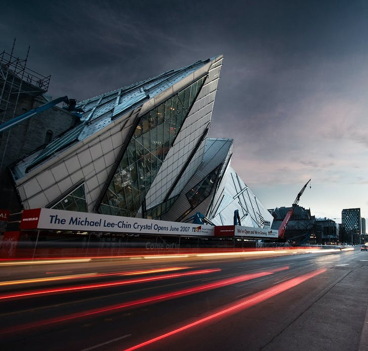 The Crystal by Daniel Libeskind at Royal Ontario Museum (ROM), exterior, Toronto, ON © Sam Javanrouh