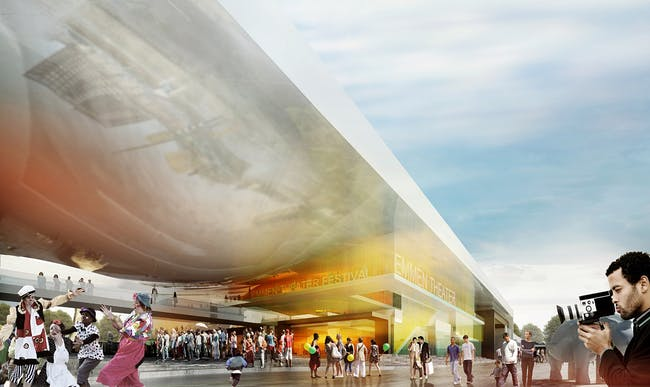 Winning design for the Theater and Zoo cultural center in Emmen, the Netherlands by Henning Larsen Architects and Van den Berg Groep (Image: Henning Larsen Architects and Van den Berg Groep)