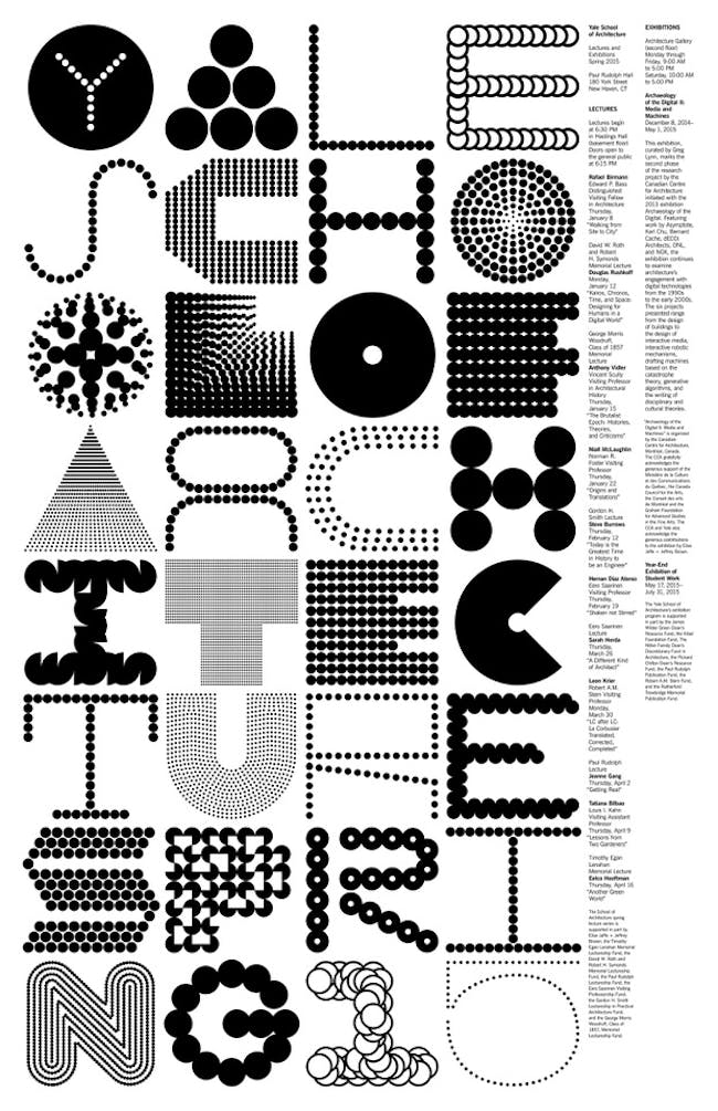 Poster design by Pentagram, Michael Bierut, and Jessica Svendsen. Image courtesy of Jessica Svendsen.