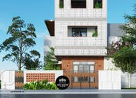 Biệt thự phố 3 tầng độc đáo với phong cách hiện đại