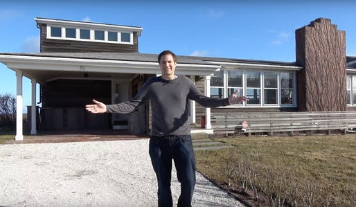 "Video still. ""Here's a Tour of a $2 Million House on an Ocean Cliff."" YouTube."