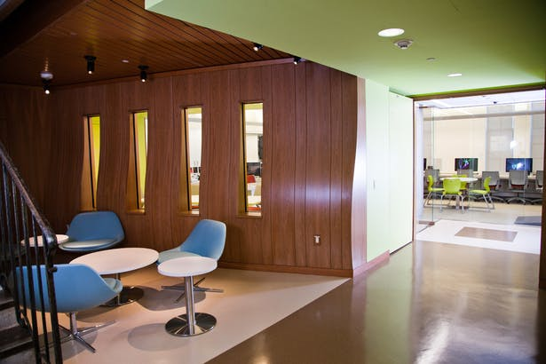 Media Space - Lobby view, The Archer School for Girls