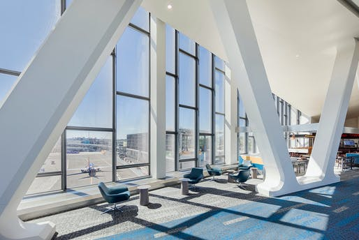 HOK's new Terminal B at LaGuardia Airport in New York City is set to open this weekend. Image courtesy of HOK.
