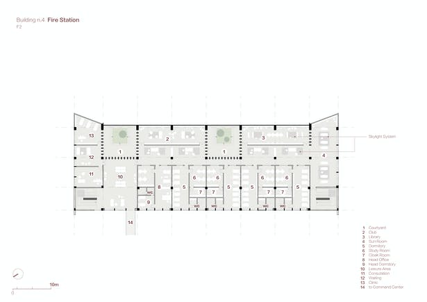 Fire Station Plan F2 Credits: West-line Studio
