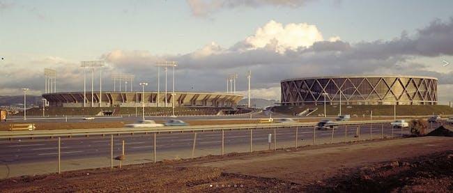 original Oakland Coliseum designed by SOM via thisisnotmyname