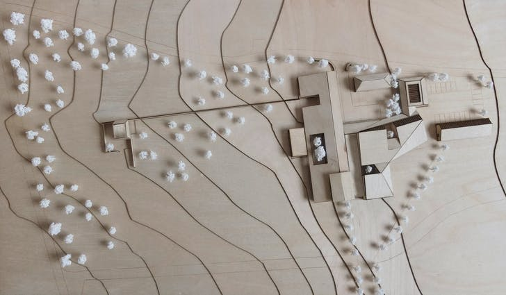 1:500 presentation model of Joseph Walsh Studio. Credit: IF_DO