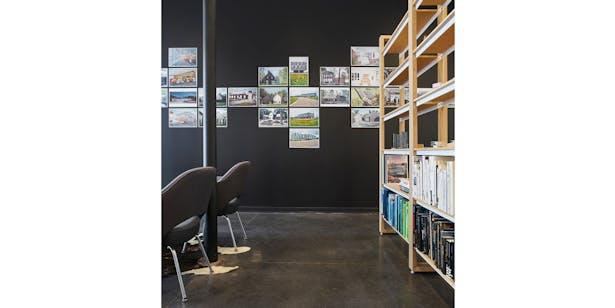Studio portfolio wall.