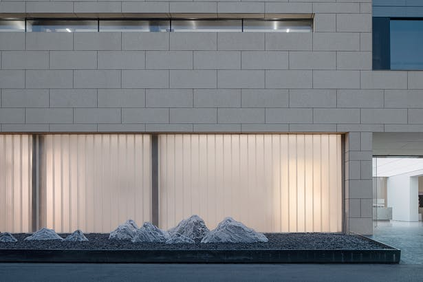 The Fusion of U-glass and Wall Stone,photo: Wu Qingshan