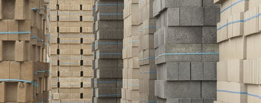 Buildings blocks made with carbon-negative Carbon8 Aggregate. Image via Carbon8 Aggregates