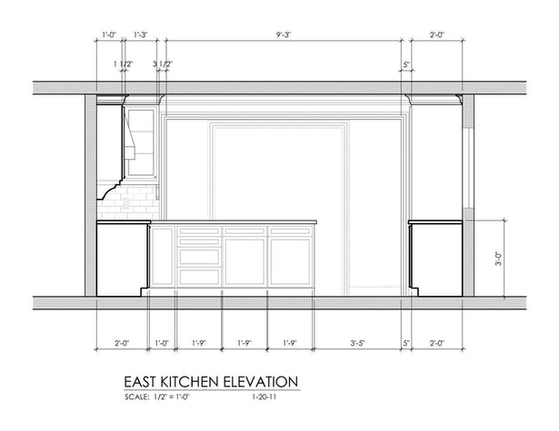 Kitchen - East Elevation