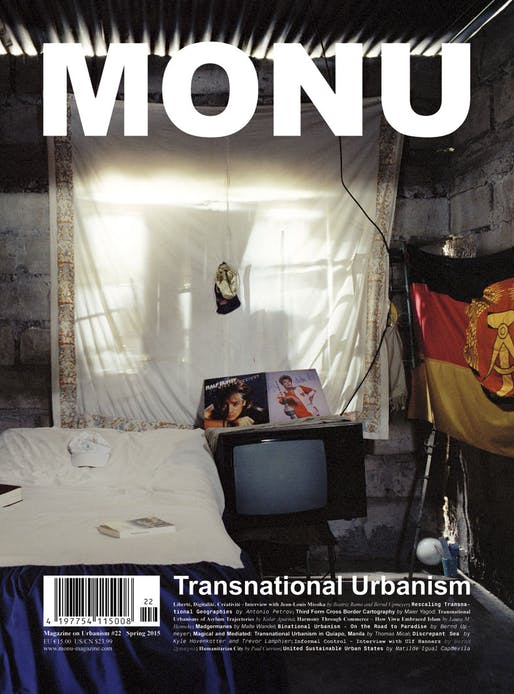 "Cover MONU #22 (Cover Image: ""Sleeping room of Nelson Ernesto Monheguete with cooker, TV and other relics from the former GDR"" from Malte Wandel's contribution ""Madgermanes"" on page 52. Photo is ©Malte Wandel.)"
