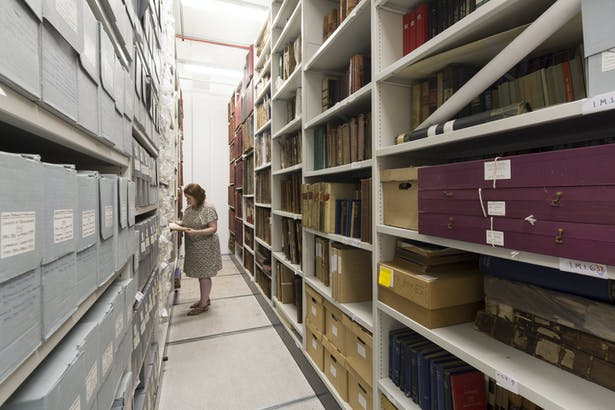 The archive is home to a range of historical documents and plans