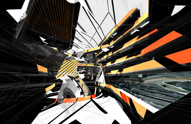 Regent's Library - Nexus Atrium Perspective