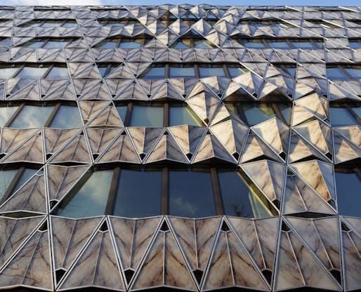 Origami Office Building in Paris, France, 2011. Photo: Vincent Fillon.
