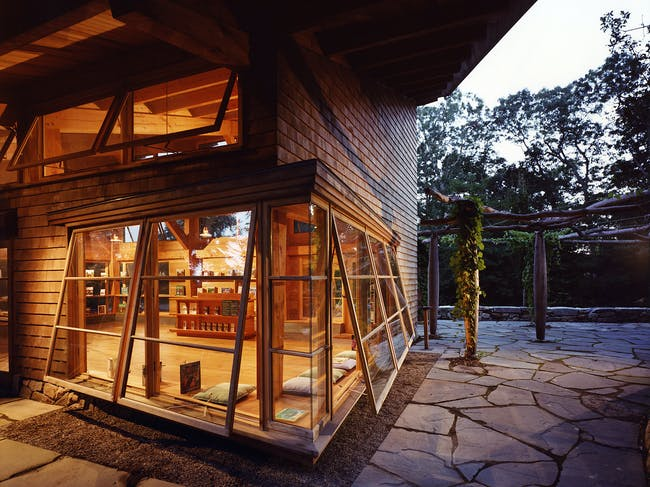 Polly Hill Arboretum, Visitors Center in Martha's Vineyard, MA by Charles Rose Architects