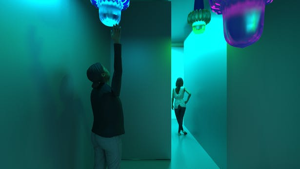 Interactive lights that when touched...