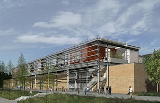The schematic designs for a $13 million, 16,300-square-feet addition that was originally approved in 2007, but scrapped two years later. It's unclear of the re-imagined addition will look similar. (MLive; U-M rendering)