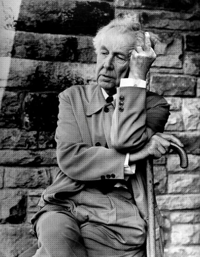 Frank Lloyd Wright. Image via supportingfrankgehry.tumblr.com