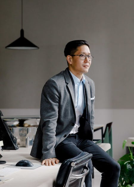 Michael K Chen at his studio in New York City. Photo: Max Burkhalter. All images courtesy of Michael K Chen Architecture.