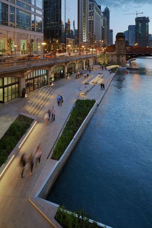 Chicago Riverwalk; Chicago (Also won an Honor Award for Regional and Urban Design) by Ross Barney Architects. Photo: Kate Joyce.