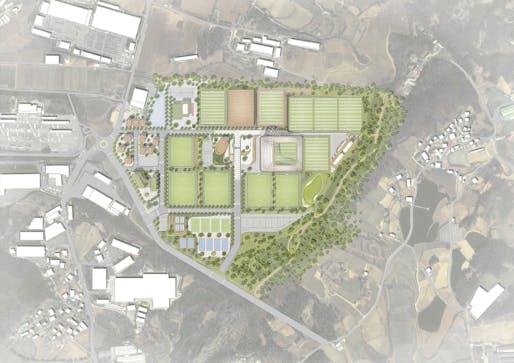 Korean National Football Centre. Plan: UNStudio.