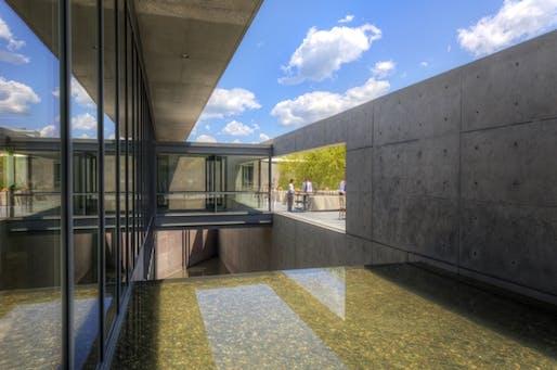 The new Tadao Ando–designed visitor center at the Clark Art Institute. (artnet; Photo: Tucker Blair)