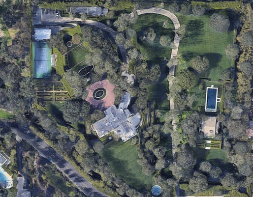 Aerial view of $165,000,000 in Beverly Hills. Image via Google Maps.