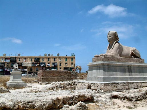 A sphinx in Alexandria. In antiquity, the city was a famed center of learning –a reputation that extended well into the Middle Ages. During the 19th century colonial era, the city hosted a diverse ethno-religious population. Credit: Wikipedia