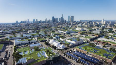 Kilograph x ClimateCents SolarPanel Farm Downtown Los Angeles. Image courtesy of Kilograph.
