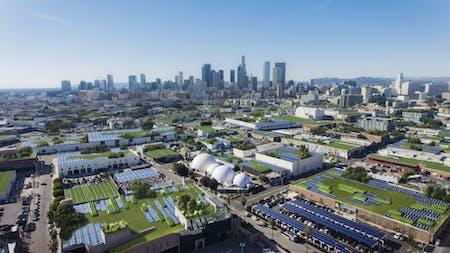 Kilograph x ClimateCents SolarPanel Farm Downtown Los Angeles. Image courtesy of Kilograph.