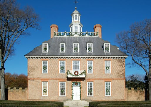 Colonial Williamsburg is investigating its queer histories. Shown: The Governor's Palace in Williamsburg, Virginia. Image courtesy of Wikimedia user Fletcher6.