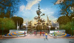 """Disney's new Tomorrowland entrance pays homage to the past with """"Space Age-inspired"""" architecture"""
