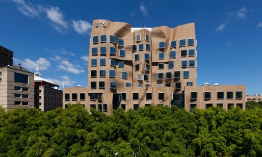 Frank Gehry's Dr Chau Chak wing building at the University of Technology Sydney. (via theguardian.com; Photograph: Andrew Worssam)