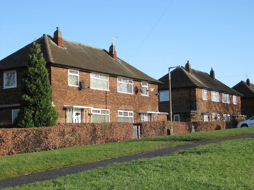 The UK's housing stock could be retrofit for energy efficiency and climate comfort under a new plan. Image courtesy of Wikimedia user chemical engineering.