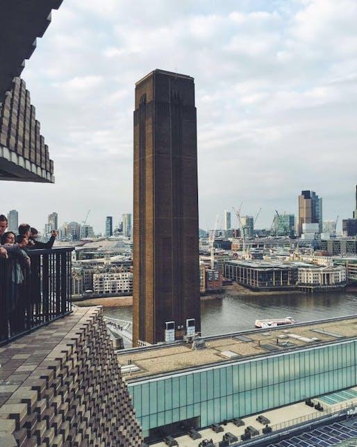 The Tate Modern viewing platform extension in London. Image: Ellen Hancock.