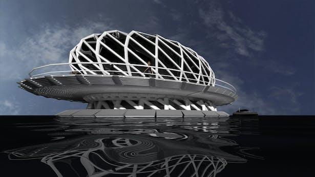 Floating Torus Sustainable Smart Home