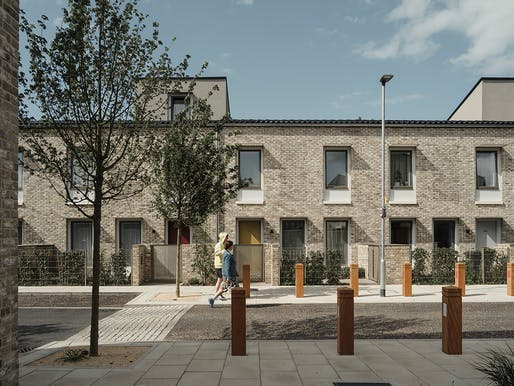 Designed by Mikhail Riches and Cathy Hawley, the Goldsmith Street development in Norwich, England showed what high-quality social housing can look like — and was awarded the RIBA Stirling Prize in response. © Tim Crocker
