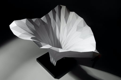 ZHCODE, Arum Installation for Venice Biennale, 2012, Folded Paper Model. Image courtesy of Zaha Hadid Architects.