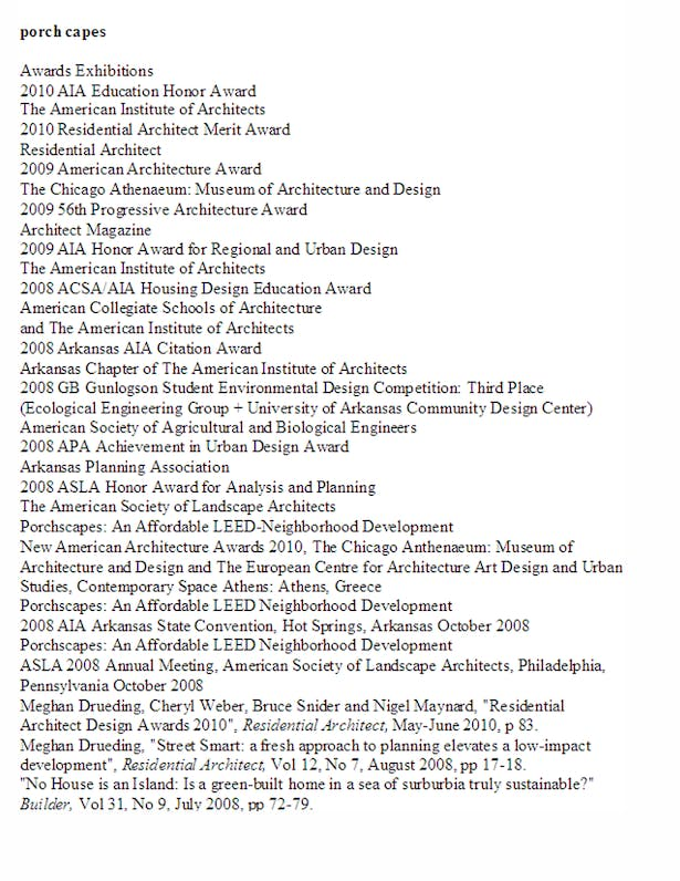 List of Awards and Publications