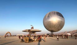 Bjarke Ingels's giant mirrored Orb rises at Burning Man