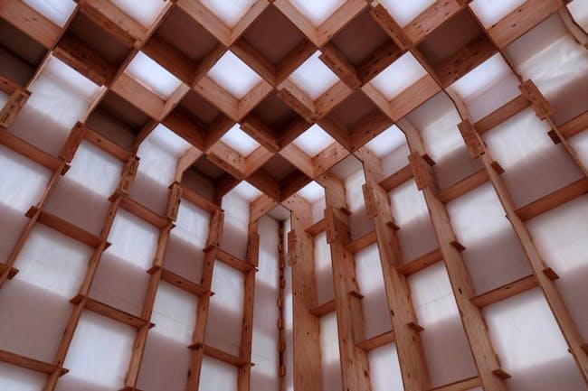 Kawauchi Wine Tasting Pavilion - detail of interior
