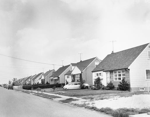 A street in Levittown, New York in 1954. Bettmann Archive / Getty Images