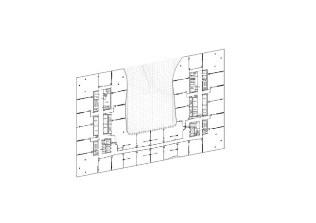 ZHA: Opus, Level 16. Image courtesy of Zaha Hadid Architects.