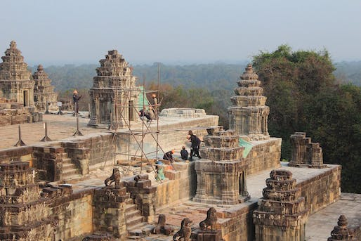 View of the northeast corner of Phnom Bakheng within the Angkor Archaeological Park, Cambodia. Photo courtesy of WMF.