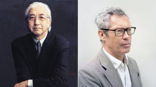 Yoshio Taniguchi (Photo: Timothy Greenfield-Sanders) and Jasper Morrison (Photo: Kento Mori).