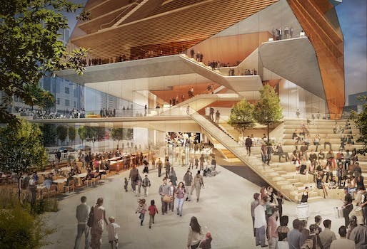 Concept Design: Centre for Music Entry Plaza. Courtesy of Diller Scofidio + Renfro.