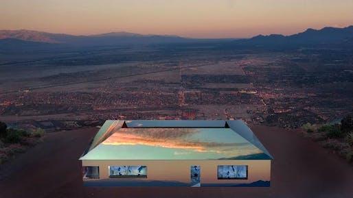"Doug Aitken's ""Mirage."" Image: Doug Aitken/Desert X"