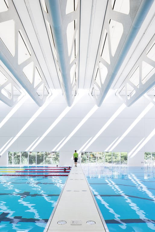 Guildford Aquatic Centre by Revery Architecture (Associate Architect: SHAPE Architecture). Photo: Revery Architecture.