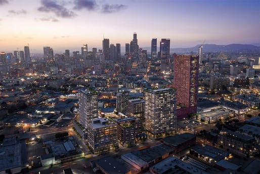 Rendering of the proposed Fourth & Central development in Downtown Los Angeles. Image: Studio One Eleven/Adjaye Associates